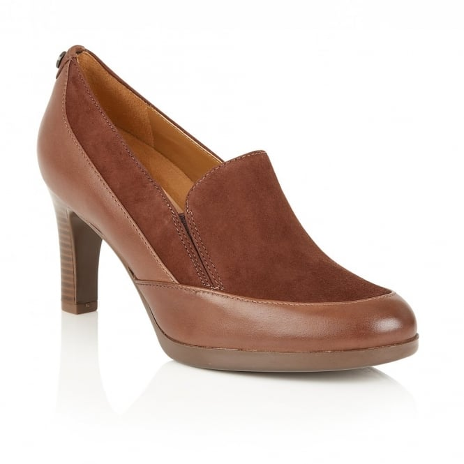 Angie Brown Leather & Suede Shoes | Naturalizer