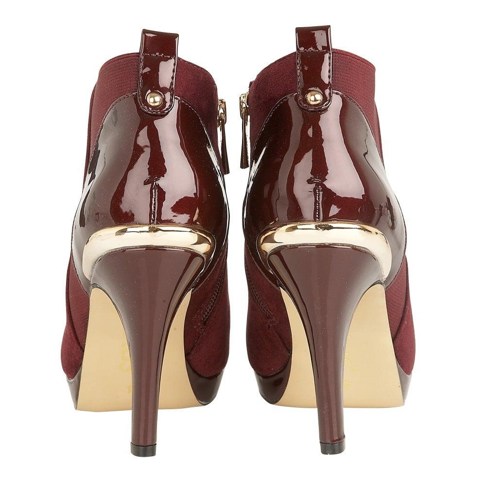 ffea5e711cf Berry Microfibre/Patent Aggy Shoe Boots | Lotus