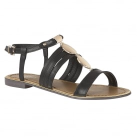 Black Alpine Flat Sandals | Lotus