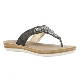 Black Bassetti Toe-Thong Sandals | Lotus