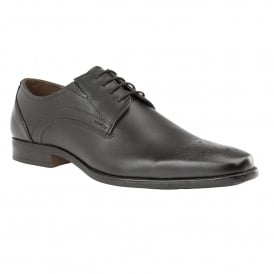 Black Birkdale Leather Lace-Up Shoes | Lotus