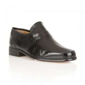 Black Cadogan Leather Shoes | Rombah Wallace