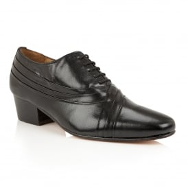 Black Chesington Leather Lace-Up Shoes | Rombah Wallace
