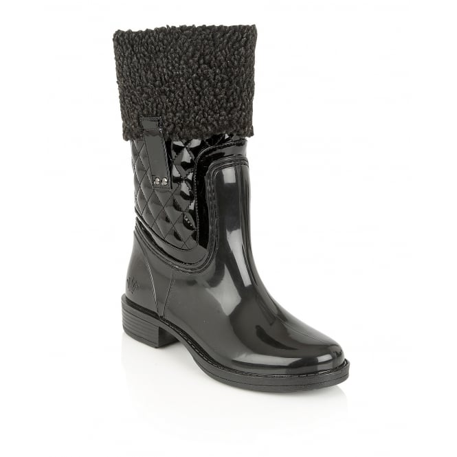 Black Colemanite Mid-Calf Boots | Posh Wellies