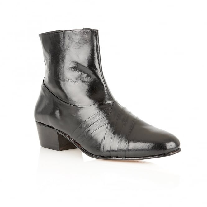 Black Curzon Leather Boots | Rombah Wallace