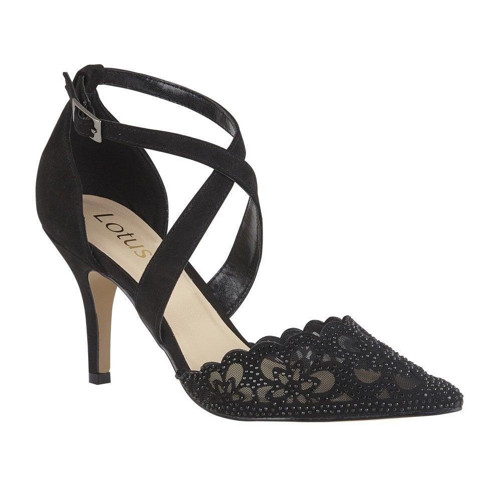 Buy the Lotus ladies' Fleur court shoes