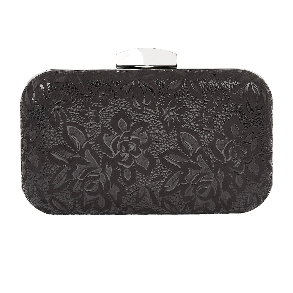 Black Floral Printed Puffin Clutch Bag | Lotus - Bags from Lotus ...
