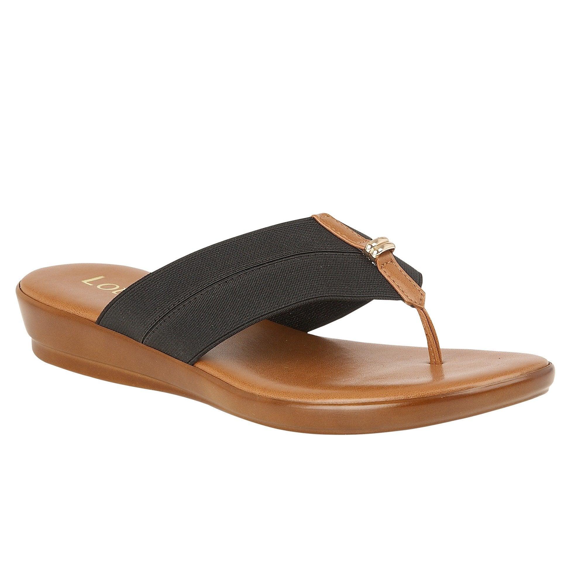 Buy the black Lotus ladies' Hera sandal