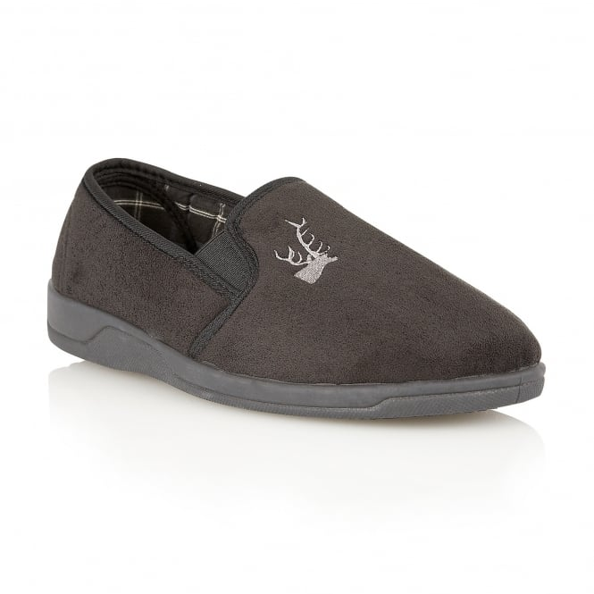 Black Jack Micro-Suede Slippers | Lotus