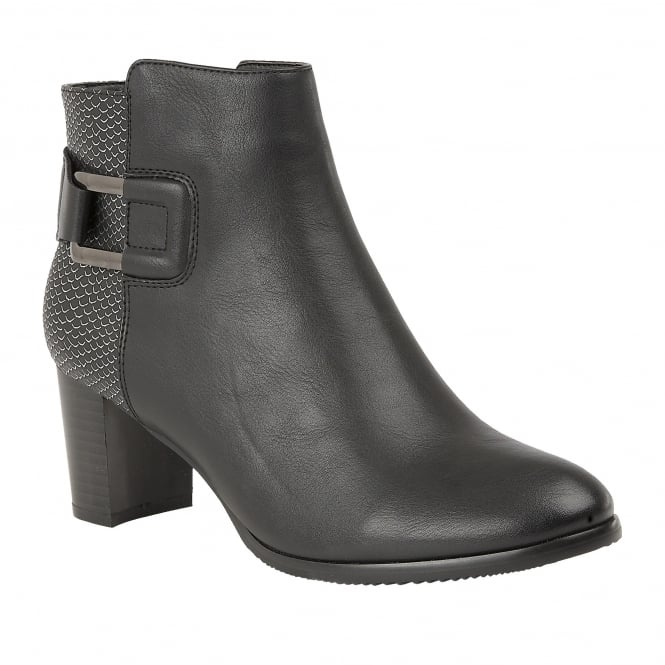 Black Jeckle Ankle Boots | Lotus