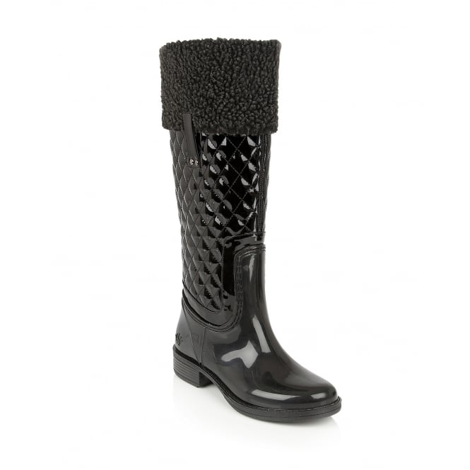 Black Kyanite Knee-High Boots | Posh Wellies