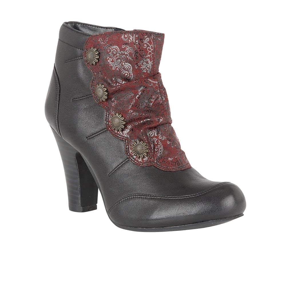 Lotus Hallmark Morie Brown Leather Heeled Ankle Boots B01MFEZ5M5
