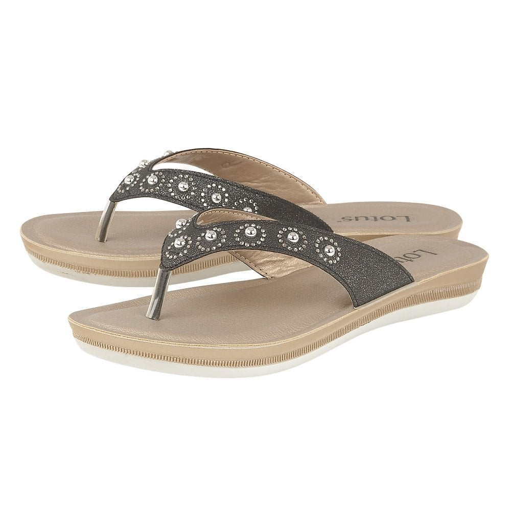 f3a10e621a1 Buy the black Lotus ladies  Lexi sandal online