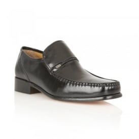 Black Lowndes Leather Loafers | Rombah Wallace