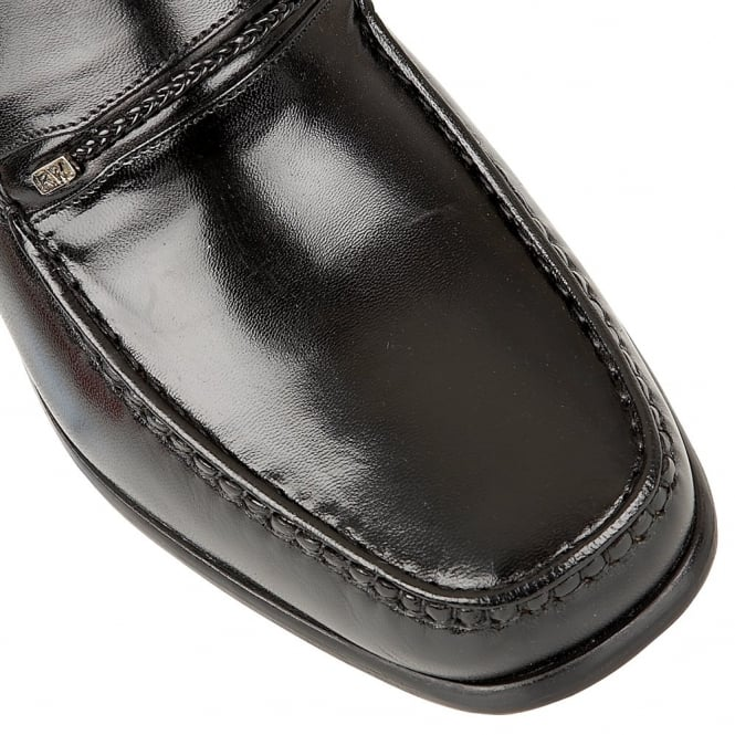 d2169e4646819 Black Lowndes Leather Loafers   Rombah Wallace