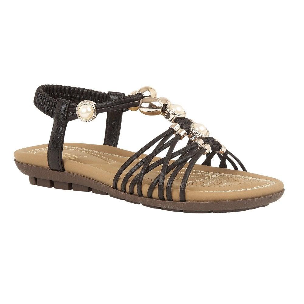 032f89d9c3d Buy the black Lotus ladies  Marci sandal online