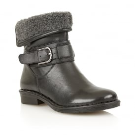 Black Matterhorn Leather Ankle Boots | Lotus