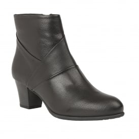 Black Metcalf Leather Ankle Boots | Lotus
