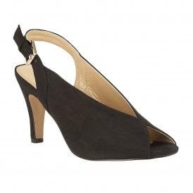 960afbfa6c4b Black Microfibre Akiko Sling-Back Court Shoes