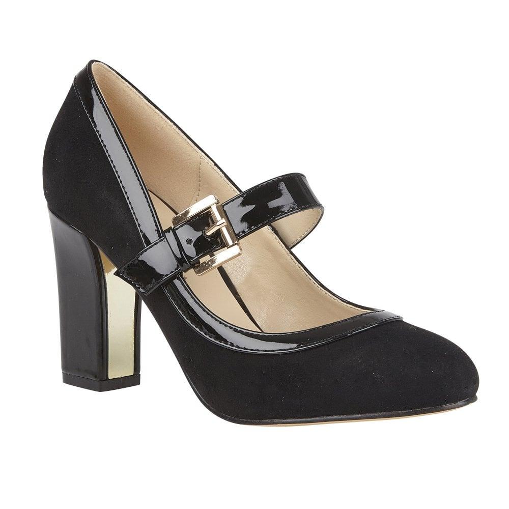 Lotus ladies' Lani court shoe in black