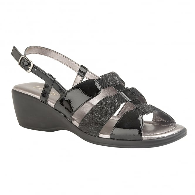Black Mississippi Sling-Back Sandals | Lotus