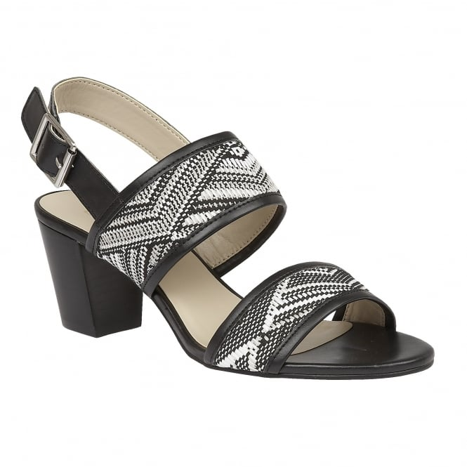 Black Multi Alaska Rafia Sandals | Lotus