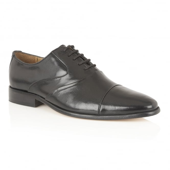Black Murray Leather Lace-Up Shoes | Rombah Wallace