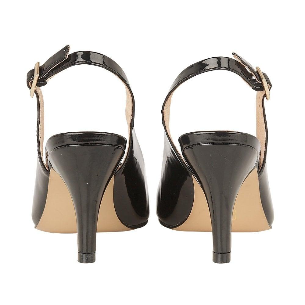 55e4bfda62 Buy the black patent Lotus women's Lizzie court shoe online