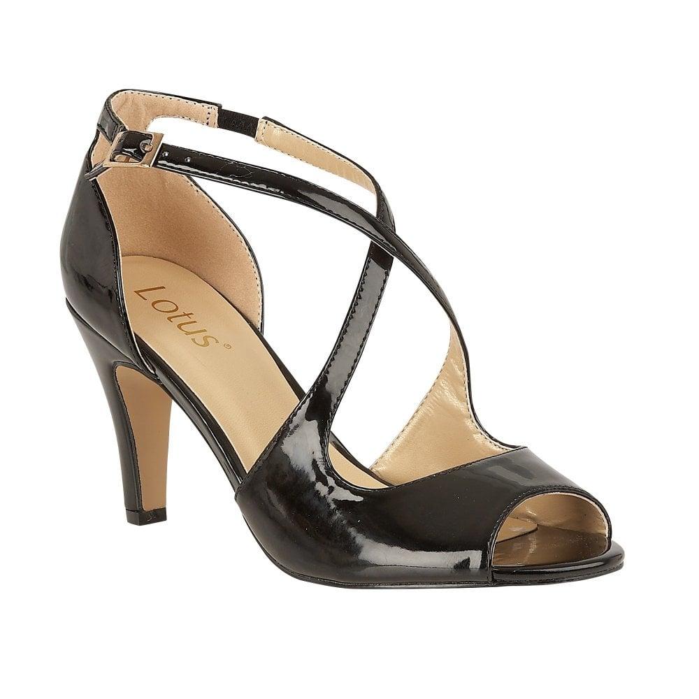0985f4f2b41 Buy the Lotus ladies  Rosalie court shoe in black online