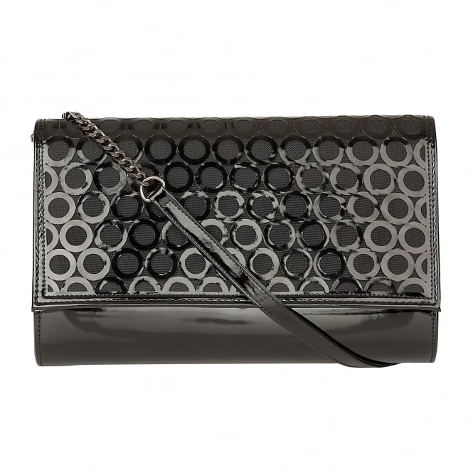 Black Patent Solana Clutch Bag | Lotus