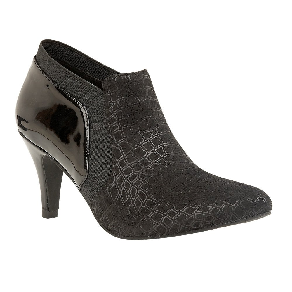 0991cc4f7026e Buy the Lotus ladies  Bassi shoe-boot in black online