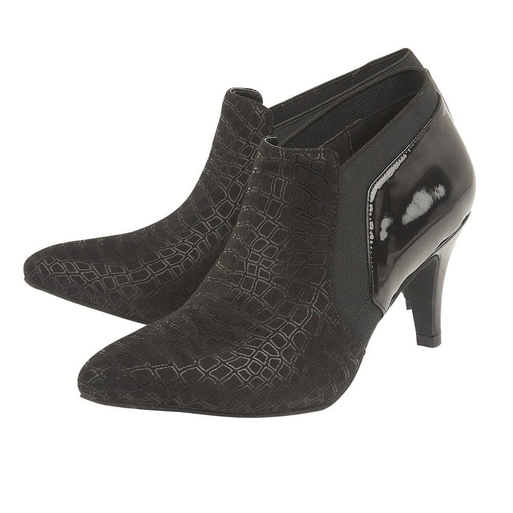 f8085c3ada8 Black Print/Patent Bassi Shoe Boots | Lotus