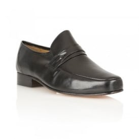 Black Regent Leather Loafers | Rombah Wallace