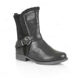 Black Rink Ankle Boots