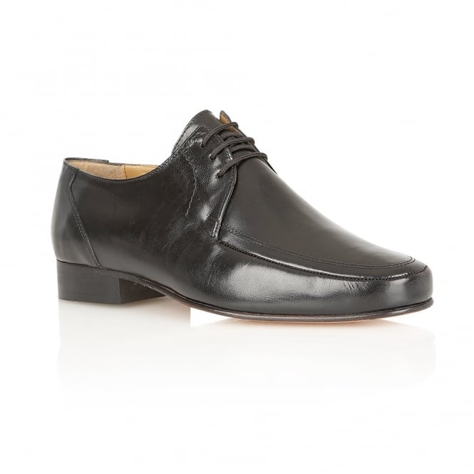 Black Romsey Leather Lace-Up Shoes | Rombah Wallace