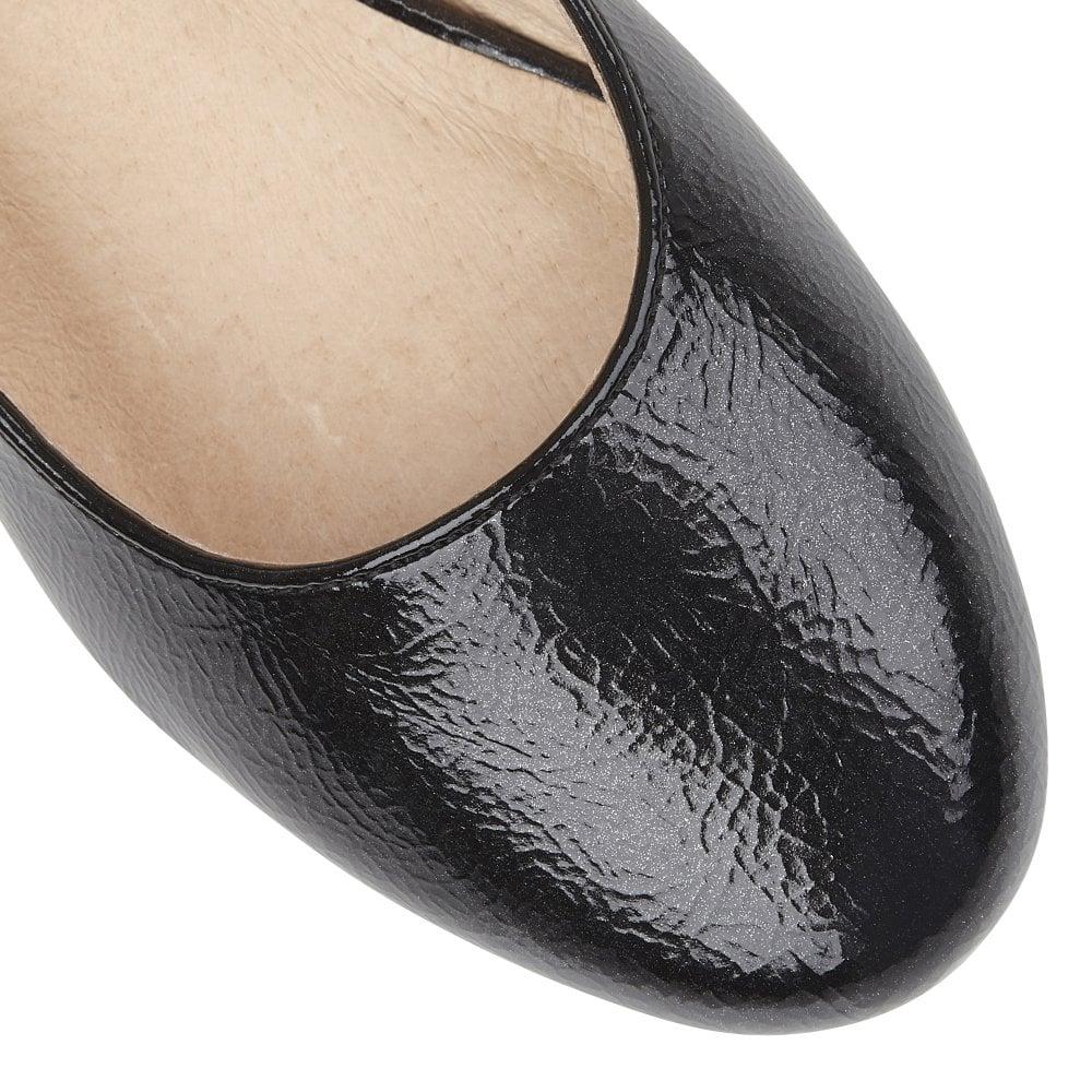 exquisite craftsmanship top design discount price Black Rose Crinkle Shiny Wedge Shoes | Lotus