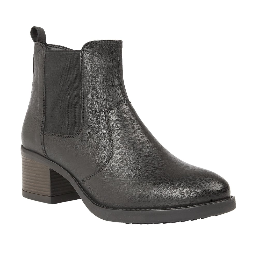 6439ae2a26cbe Buy the Lotus ladies' Rubay ankle boot in black leather online