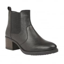 ccecadb2ea7f Black Rubay Leather Ankle Boots