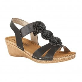 562bf2fa3ba5de Black Saphira Wedge Sandals