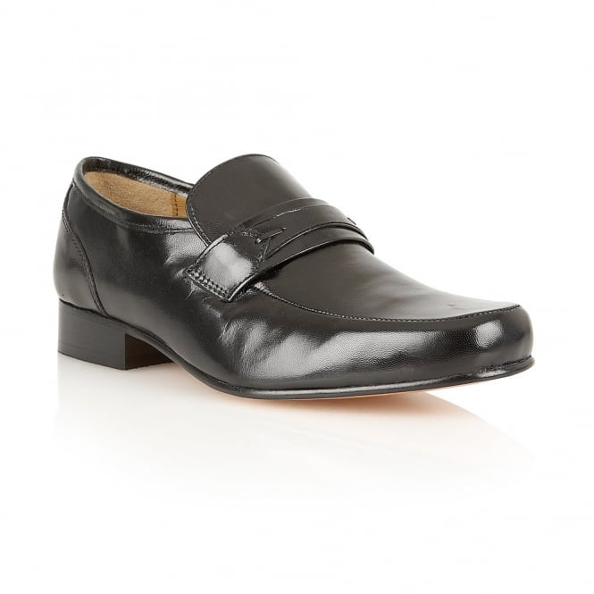 Black Shaftsbury Leather Loafers | Rombah Wallace