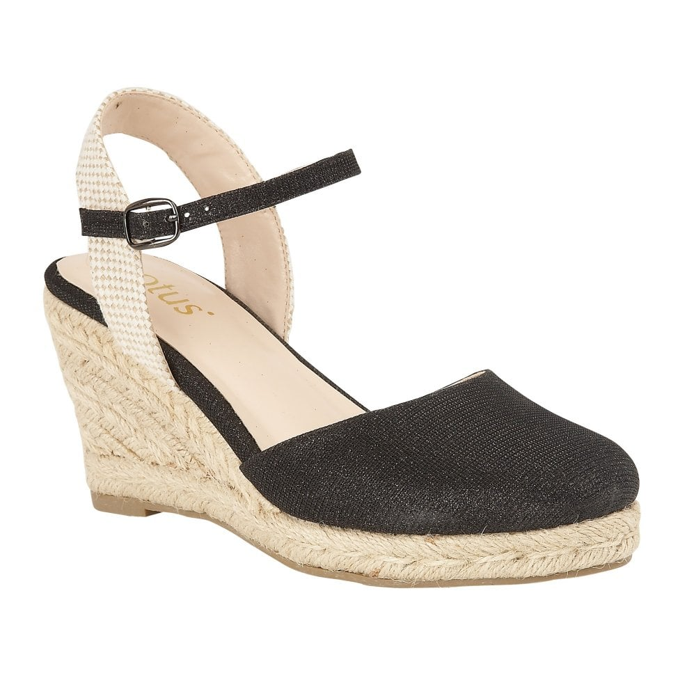 23f913a90f72 Buy the black Lotus ladies  Maira wedge shoe online