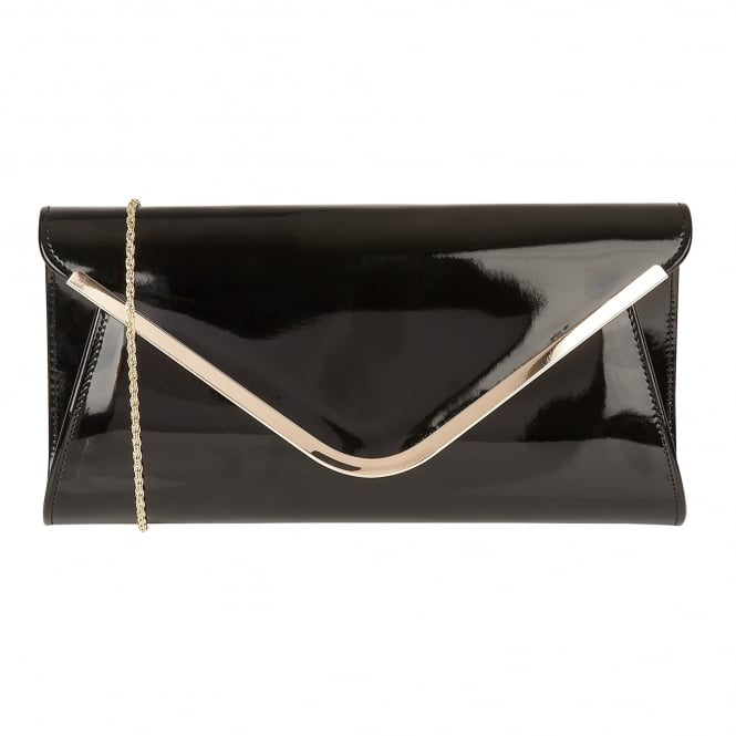 Black Shiny Sommerton Clutch Bag | Lotus