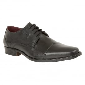 Black Swinford Leather Lace-Up Shoes | Lotus