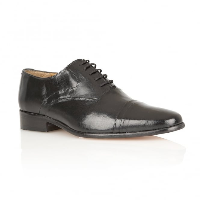 Black Westminster Leather Shoes | Rombah Wallace
