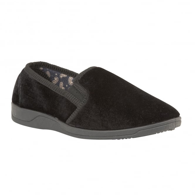 Black Wycombe Slipper Shoes | Lotus