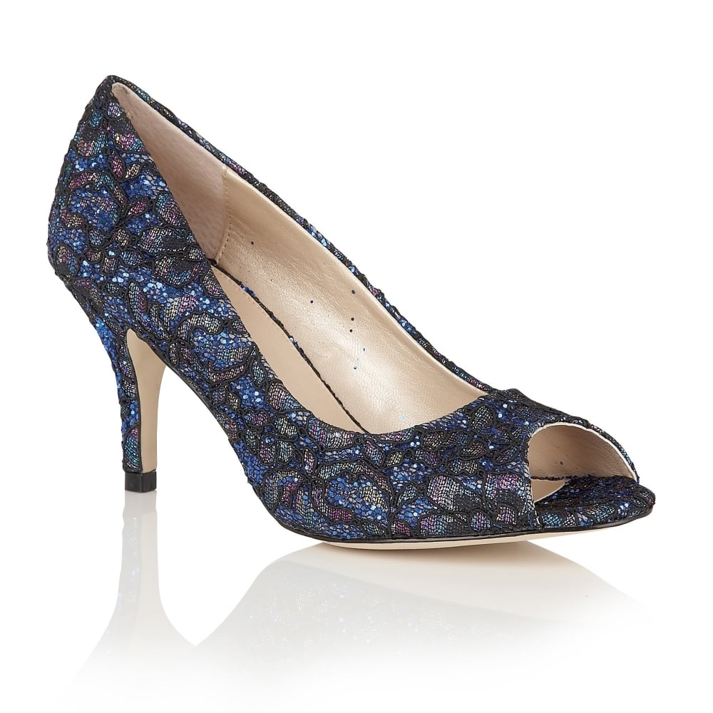 blue glitter anthea lace shoes lotus shoes from lotus