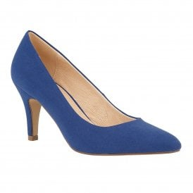 1ca3d260bb2 Blue Microfibre Holly Court Shoes