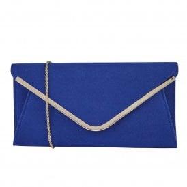 65c3a0ebe8 Blue Microfibre Sommerton Clutch Bag | Lotus