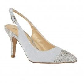 6652c129406f Blue & Silver Glitz Arlind Sling-Back Court Shoes   Lotus