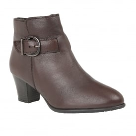 Bordeaux Genevieve Leather Ankle Boots | Lotus